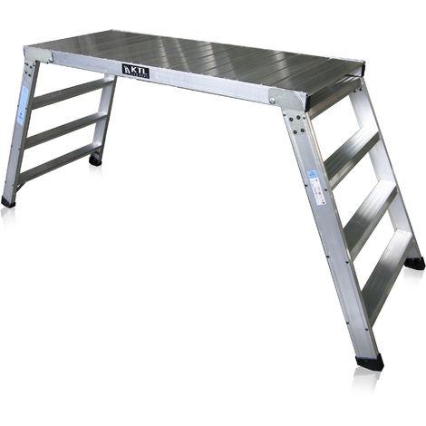 Plataforma de trabajo profesional de Aluminio plegable 4 peldaños 60x150 SERIE KARLA