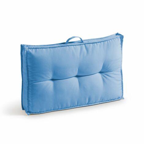 Coussin d'extérieur matelassé 60x40cm Cuzco - Bleu - Bleu