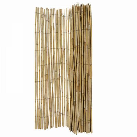 Canisse bambou naturel  Perche - 1 x 5 mètres - Marron