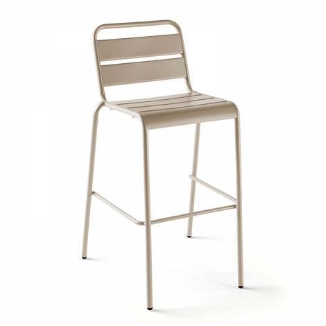Chaise haute en métal Palavas Palavas - Taupe - Taupe