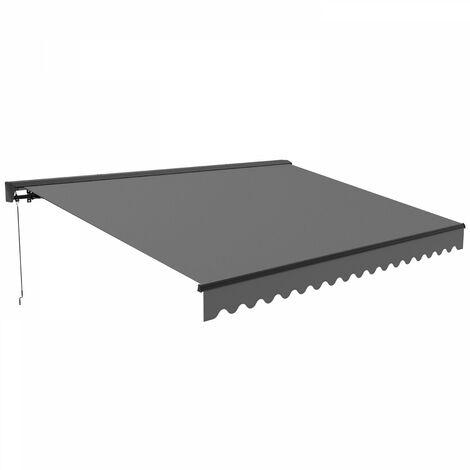 Store banne 2,50 x 2 m avec coffre semi-intégral Brehat - Gris - Gris