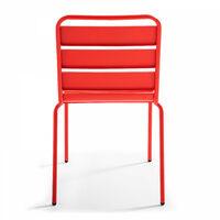 Chaise en métal (47 x 55 x 83 cm) Palavas - Multicolore - Rouge