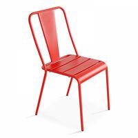 Chaise bistrot en métal Honfleur Bleu 104086