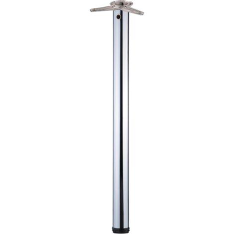 Tischbein / Stützfuß - Chrom, Ø 6 cm x 110 cm, höhenverstellbar