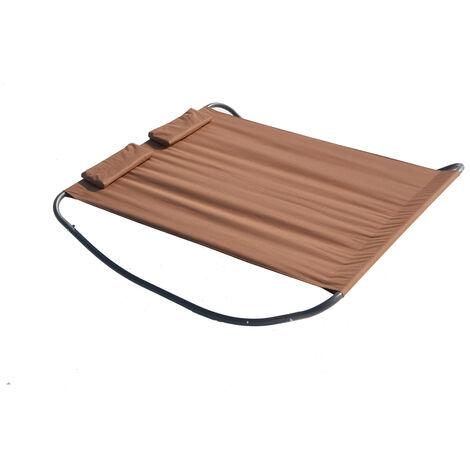 Coachella chocolat : lit de jardin & transat à bascule 2 personnes