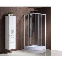 Bellagio : Paroi de douche d'angle : l 90 X L 90 X H 198 cm, receveur inclus, structure en aluminium haute qualité