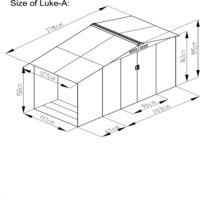 Ventoux 3.53 m² : abri de jardin avec abri bûches en acier anti-corrosion gris