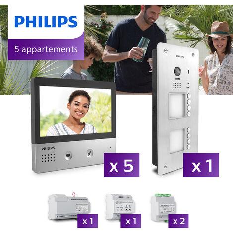 Interphone vidéo Philips Welcome Hive PRO pour 5 appartements - .