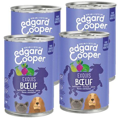Edgard Cooper Boite Boeuf Contenance - lot de 4 boites de 400 g