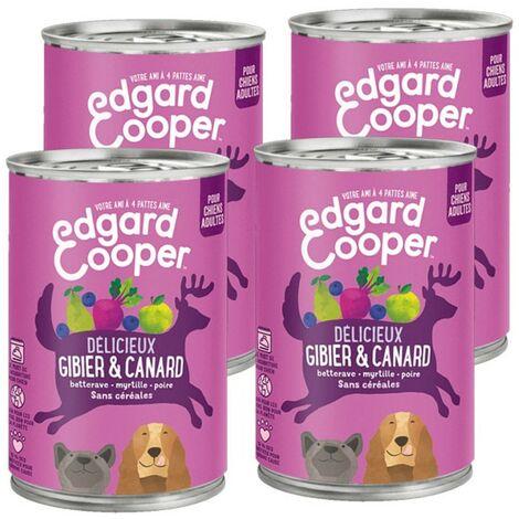 Edgard Cooper Boite Gibier & Canard Contenance - lot de 4 boites de 400 g