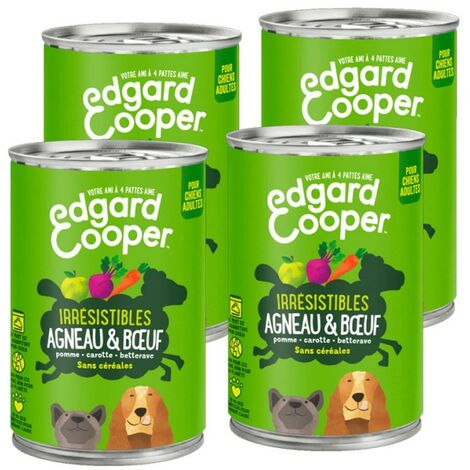 Edgard Cooper Boite Agneau & Boeuf Contenance - lot de 4 boites de 400 g