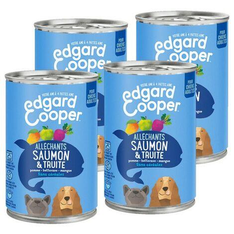 Edgard Cooper Boite Saumon & Truite Contenance - lot de 4 boites de 400 g