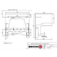 Bocchi coppia mensole meccaniche Slim codice NS8791