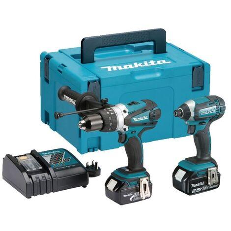 Makita DLX2145TJ 18V LXT 2 Piece Combi Drill and Impact Driver Kit (2 x 5.0Ah Li-ion batts)