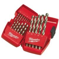 Pack of 2 Milwaukee HSS-G THUNDERWEB Metal Drill Bit 1.0mm MIL2352345