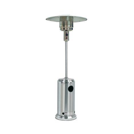 Chauffage ext�rieur � gaz, parasol chauffant de terrasse QLIMA 13,5kW Inox avec roulettes