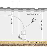 Pompe d'evacuation pour Eaux Chargees 750W