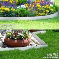 Bordure de jardin en métal galvanisé flexible 100x18cm Lot de 10