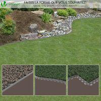 Bordure de jardin plastique flexible 10m avec piquets gris