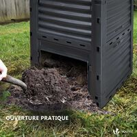Composteur de jardin 300L Qualité Supérieure pour Jardin Déchets