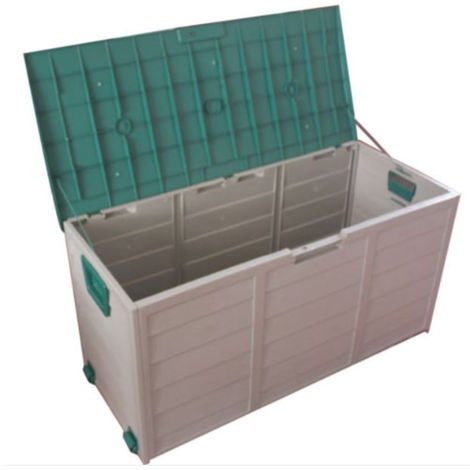XL Easymove Weatherproof Garden Storage Box with Wheels - GREEN