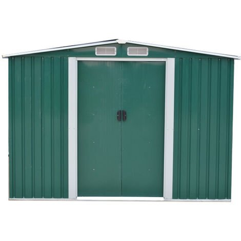Easy Store Metal Garden Shed 6x8 foot Green