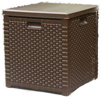 Rattan Garden Storage Box - Square