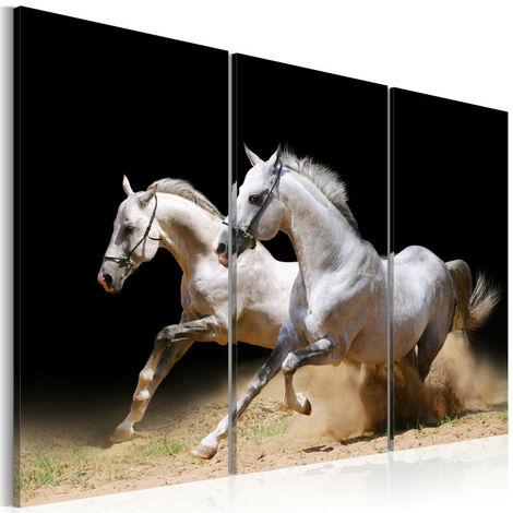 Tableau - chevaux - force et dynamique 120x80