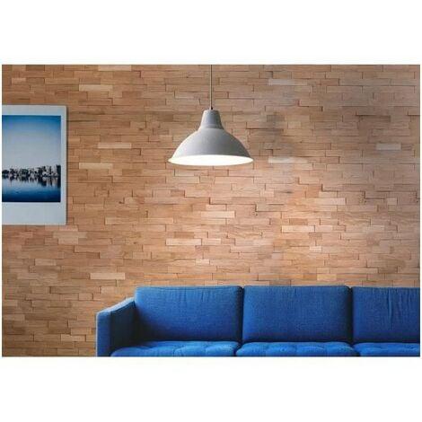 Lambris Chene naturel massif effet 3D. Cartons de 1.35 m²