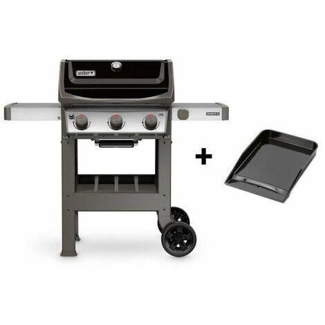 WEBER Barbecue a gaz Spirit II E-310 GBS 1/2 plancha émaillée - 1/2 grille émaillée