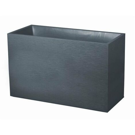 EDA Muret Graphit 99,5x39,5x60cm - Contenance 116L - Gris anthracite