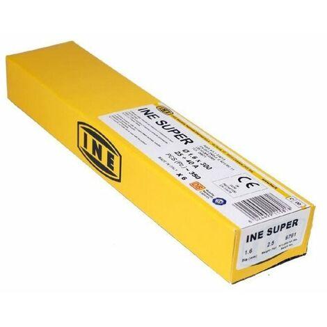 INE Lot de 350 électrodes rutiles acier Ø 1,6 mm L 300 mm - Baguettes de soudure