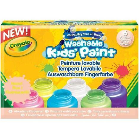 Photo de crayola-6-pots-de-peinture-lavable