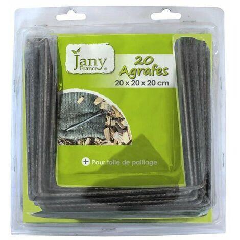 JANY FRANCE Lot de 20 agrafes pour toile de paillage - Ø 4 mm - 15x15x15 mm