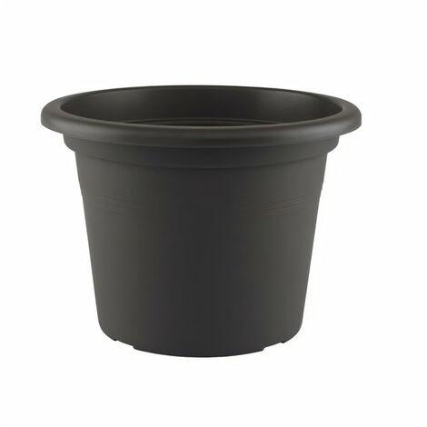 ARTEVASI Pot de fleurs Venezia Cilindro - 50 cm - Gris anthracite