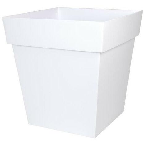 EDA Pot carré Toscane - 50 cm - 87 L - Blanc