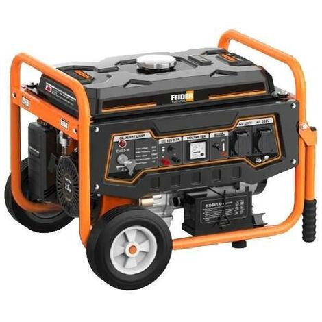 FEIDER Groupe électrogene a essence de chantier FG3000 - 2800 W a 2900 W - Systeme AVR - Orange et noir
