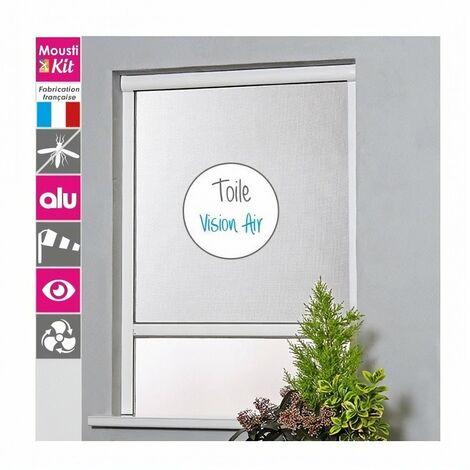 MOUSTIKIT Moustiquaire enroulable Vision air - 125 x 160 cm - Aluminium - Blanc