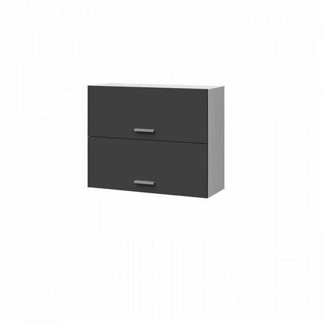 EXTRA - Meuble haut de cuisine L 80cm 2 Portes a projection - Gris Mat
