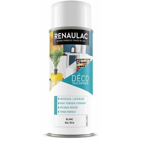 RENAULAC Peinture aérosol 0,4 L blanc brillant