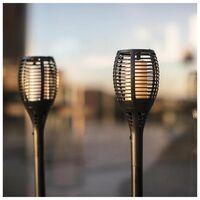 LUMI JARDIN Torche solaire Maity Sun - Effet flamme - LED - H 80 cm - Blanc chaud