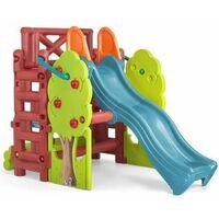 FEBER - Maison des Bois pour Enfant : Aire de jeux avec toboggan