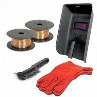 PROWELTEK Poste a souder PROMIG 130 - Livré avec 2 bobines de fil fourré Ø 0,9 mm et gant de soudeur anti-chaleur