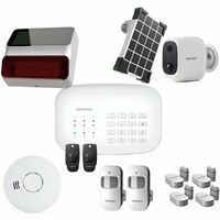DAEWOO Pack Alarme Wifi / GSM - Modele SA620 Livré Avec 10 Accessoires, 1 Caméra Et 1 Sirene
