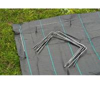 NATURE Lot de 10 agrafes métalliques pour fixation au sol - Ø 4 mm / H 20 x 25 cm