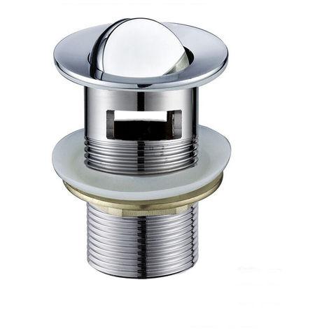 Válvula Clic Clac LEI universal compatible con la mayoría de lavabos fabricada en latón Kibath