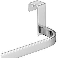 Toallero sin taladros para mueble de baño (36cm). Sin taladros, fabricado en acero inoxidable con acabado cromo brillo Kibath