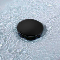 Válvula Clic Clac universal negro mate. Desagüe Push-up de lavabo y bidet, con acabado en negro mate. Tuerca de 1 1/4. Fabricada en latón Kibath