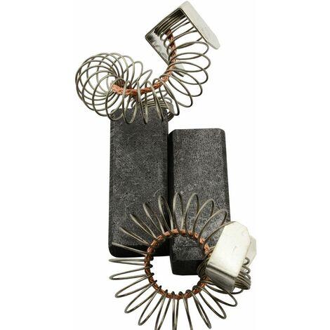Balais de Charbon pour Rupes Aspirateur S80 - 6,3x11,3x28,5mm