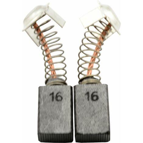 Balais de Charbon pour Hitachi Scie C6U2 - 7x11x17mm - Remplace 999043 & 999073